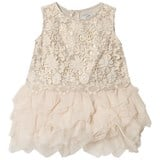 Mayoral Champagne Lace and Petal Tulle Dress