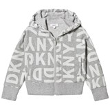 DKNY Grey All Over Print Branded Hoody