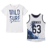 Mayoral Pack of 2 White Hawaiian Vest and T-Shirt