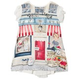 Mayoral Off White Bella Italia and Girl Print Dress