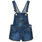 Mayoral Blue Flower Applique Frill Dungarees