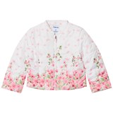Mayoral White Rose Printed Padded Jacket