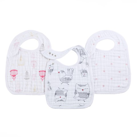 Aden + Anais 3 Pack of Classic Lovebird Snap Bibs