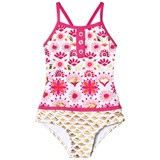 Hatley Pink And Gold Sarchi Colourblock Swimsuit