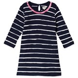 Hatley Navy And White Bow Back Stripe Dress