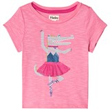 Hatley Pink Twirling Gator T-Shirt