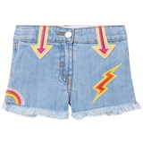 Stella McCartney Kids Blue Arrows Embroidered Marlin Shorts