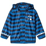 Lego Wear Blue And Navy Stripe Justice Raincoat