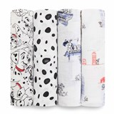 Aden + Anais 4 Pack of Classic 101 Dalmatians Swaddle Blankets