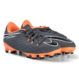 Nike Dark Grey and Orange Hypervenom Phantom Firm Ground Football Boots