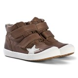 Bisgaard Taupe Velcro Star Shoes