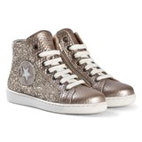 Bisgaard Gold Glitter Hi-Top Trainers