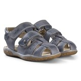 Noël Slate Grey Leather Closed Toe Tylero Sandals