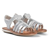 Noël Silver Metallic Strappy Leather Sydni Sandals