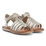 Noël Gold Metallic Strappy Leather Sydni Sandals