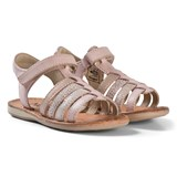 Noël Pink Metallic Strappy Leather Sydni Sandals