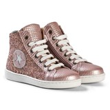 Bisgaard Rose Glitter Hi-Top Trainers