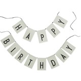 Design Letters Pale Green Happy Birthday Garland