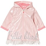 Billieblush Pale Pink Branded Raincoat with Tulle Fringing