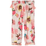 Billieblush White and Pink Bollywood Print Wide Leg Trousers