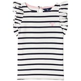 Gant White and Navy Frill Side Tee