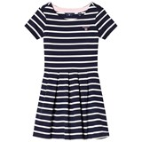 Gant Navy and White Stripe Jersey Dress