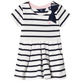 Gant White and Navy Breton Stripe and Bow Detail Dress