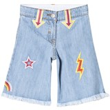 Stella McCartney Kids Blue Arrow Denim Culottes