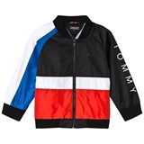 Tommy Hilfiger Black Colour Block Flag Bomber Jacket