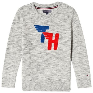 Tommy Hilfiger Grey Fun Towelling Branding Sweater 10 years