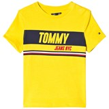 Tommy Hilfiger Yellow Ame Sporty Block Panel Branded T-Shirt