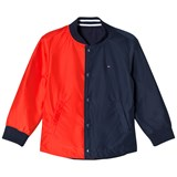 Tommy Hilfiger Navy and Red Reversible Cracker Jacket