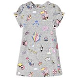 Little Marc Jacobs Grey Marl All Over Sweetie Print Dress