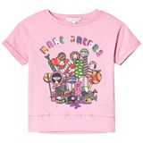 Little Marc Jacobs Pink Miss Marc Branded Sweeties Print T-Shirt