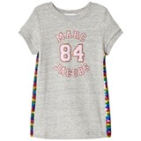 Little Marc Jacobs Grey Marl Branded Dress with Rainbow Sequin Sides
