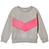 Gardner and The Gang Grey And Pink Superhero Applique Classic Sweatshirt