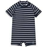 Wheat Navy Striped Cas Swimsuit