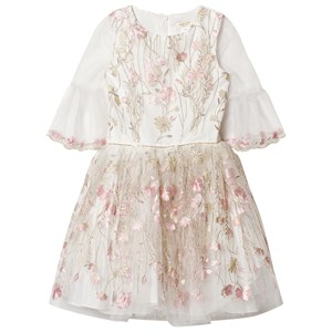 DAVID CHARLES | David Charles David Charles Ivory Tulle Embroidered Party Dress With Gold Detail 16 Years | Goxip