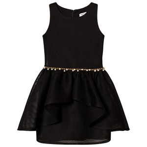 DAVID CHARLES | David Charles David Charles Black Mesh Dress With Peal Waist Detail 8 Years | Goxip