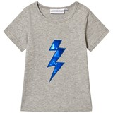 Gardner and The Gang Heather Grey Bolt Applique The Cool Tee