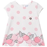 Mayoral White with Pink Spots and Cherry Print Dress