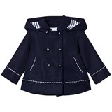 Mayoral Navy Sailor Style Windbreaker Hooded Coat