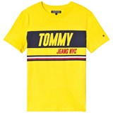 Tommy Hilfiger Yellow Sporty Block Panel Branded Tee