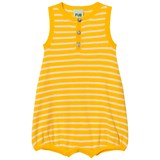 FUB Yellow and Ecru Baby Romper Suit