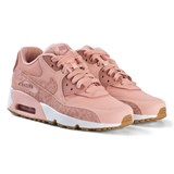 Nike Coral Stardust Pink and White Nike Air Max Leather Shoes