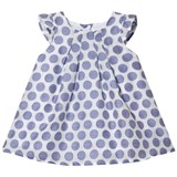 Absorba Blue and White Woven Spot Dress