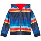 Paul Smith Junior Multi Rainbow Stripe Reversible Jacket