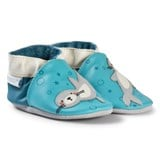 Robeez Turquoise Sea Lions Leather Crib Shoes