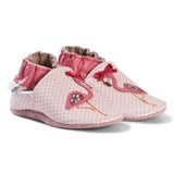Robeez Pink Flamingo Leather Crib Shoes