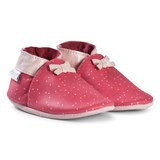Robeez Red Spot with Pink Bows Leather Crib Shoes
